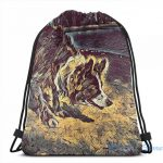 Border Collie Drawstring backpack