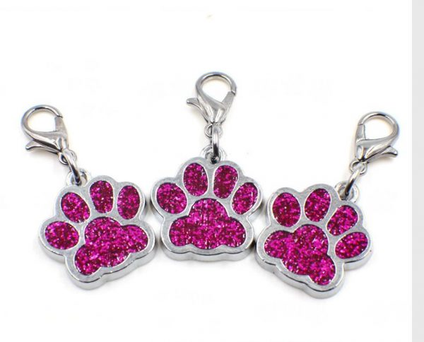 paw print charm red