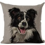 Border collie cushion cover 3