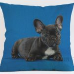 French Bulldog-black-Cushion Cover