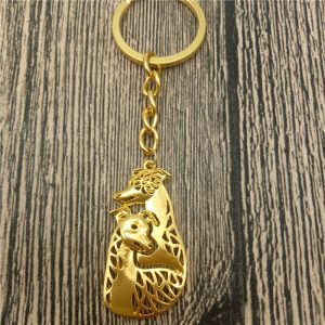 Whippet Key Chain
